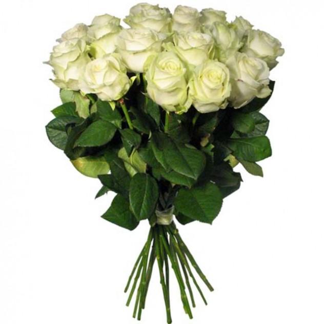 Букет белых роз 15 шт.